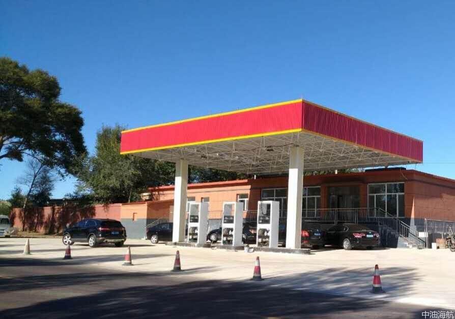 改造前的加油站